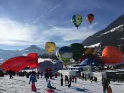 The International Hot Air Balloon Festival in Chateau d'Oex