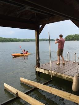 A weekend at a lake house on Lake Anna, Virginia