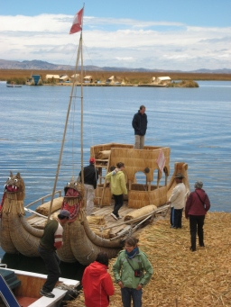 Floating reed villages of Lake Titicaca